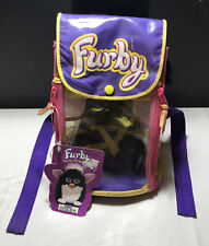 Furby Vintage Carry Along Clear Backpack Case Purple With Tags New Zip-up