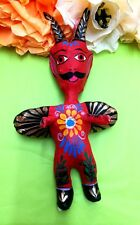Mexican Artisan Folk Art Paper Mache Devil El Diablo Day of the Dead Authentic