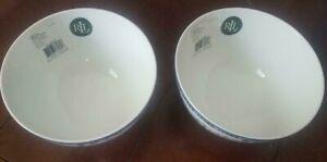 Ralph Lauren Macao Blue Floral Porcelain Cereal Soup Salad Bowls Set of 2