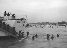 6x4 Photo ww739 Normandy Juno Bernieres Nan White LCI 262 9th Canadian Inf Brig