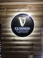 Stunning GUINNESS Light up LED bar sign logo Pub Beer Lager ALE man cave /home