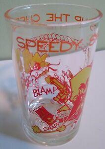 "4.25"" Looney Tunes Welchs Speedy Gonzales Yosemite Sam Collectors Juice Glass"