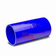 """4"""" INLET 8"""" LENGTH STRAIGHT BLUE 3-PLY 4MM TURBO SILICONE HOSE COUPLER CONNECTOR"""