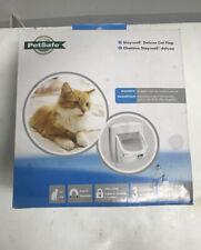PetSafe Staywell Magnetic 4 Way Locking Deluxe Cat Flap White - Cat Door