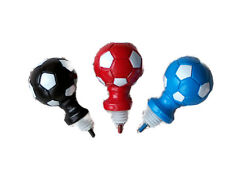 19mm Novelty Black Red Blue & White Football Curtain Pole Finials Pole Ends x 2