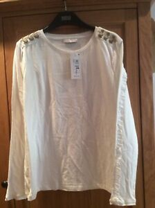 Per Una White Long Sleeve T Shirt Size 14