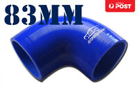 """4PLY Silicone 90 Degree Elbow Connector Joiner Turbo Hose Pipe 83mm 3.25"""" 3-1/4"""""""