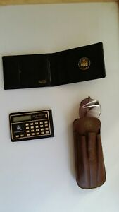 United Parcel Service Vintage Wallet Sunglass case with Foster Grant& Calculator