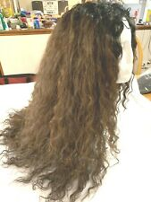 """24"""" Long Front Lace Wig Wavy Curls Brown & Reddish Highlights Gorgeous Sexy"""