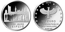Germania   10€ 2015 Leipzig  Lipsia   FDC