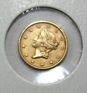 1852 $1 Dollar Liberty Head Gold Coin Uncertified