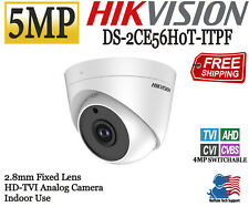 HIKVISION 5MP Indoor Dome Camera 2.8mm HD Analog TVI/AHD D-WDR IR 20m OSD Menu