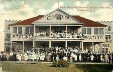 Attendees Pose at First Religious Services Held at Crest Pier, Wildwood NJ 1911