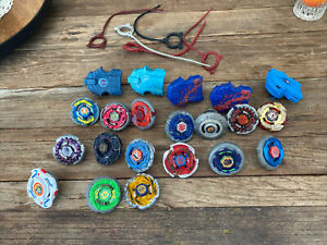 Beyblade Lot - Launchers, Rip chords, Metal Discs, Accessories Takara Tomy
