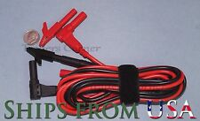 Test Lead/Probe Cable Approx 7 Feet with Small Alligator Clips for Fluke