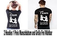 T Shirt Dream Team  Motiv Partner Look Shirts Pärchen Couple 2 Stück XS - 5XL