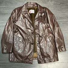 Vintage Sears The Leather Shop Jacket Men's sz 40 Small Brown Fight Club