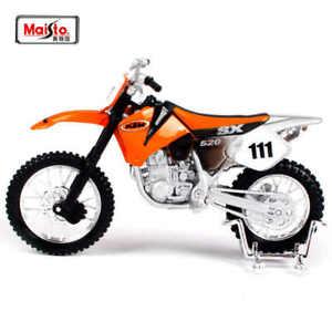 Orange KTM 520 SX Racing 1:18 Kids Diecast Dirt Bike Motocross Motorcycles Toy