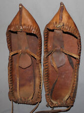 ANTIQUE BULGARIAN FOLK HAND MADE LEATHER SLIPPERS