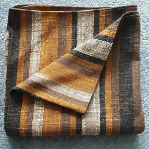 Linen Throw 130 x 127cm - Rustic Brown