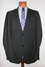 Isaia Oger Napoli Gray Striped Wool Lux Suit $3K Blazer Pants Size 50 Slim-Fit