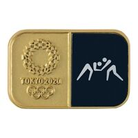 Tokyo Olympics 2020 Olympic Sport Pictogram Wrestling Pin Badge From Japan F / S