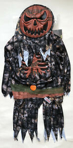 Hallowee Ghoulish Pumpkin Zombie With Sound And Mask Size 7-8 Years