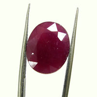 8.07 Ct Certified Natural Ruby Loose Oval Gemstone Untreated Stone - 130732