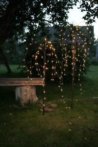 LED Trauerweide 110cm - braun mit 96 warmweißen LEDs - Trafo - für Außen