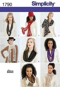 Simplicity 1790 Infinity & Wrap Fashion Scarf Andrea Schewe Sewing Pattern FF