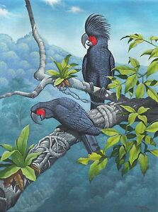 Hand painting Balinese Parrot 298