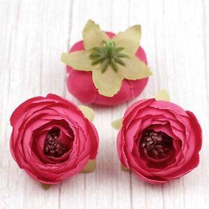 Artificial Silk Flower Heads Bulk 10/15Pcs Fake Camellia Peony Wedding Decor