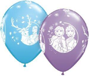 "Frozen 2 Elsa 12"" Latex Balloons 6 Pack Children's Birthday Party Decorations"