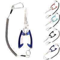 "Hercules 6.5"" Fishing Pliers Split Ring Hook Remover Scissors Grips Fish Tackle"