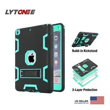 For iPad 9.7 inch 5th/6th Generation Case Stand Silicone Cover/Screen Protector
