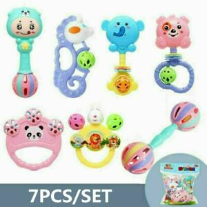 Bell Rattle Musical Education Music Sensory Baby Kids Teether Rattle Toys Set