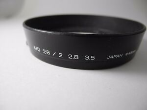 Original Minolta 49mm Hood/Shade for MD 28mm F/2.8 F/3.5 PERFECT WORKING