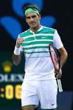 Nike Roger Federer Polo Shirt White Green Sz M Australian Open 2016 Tennis Rare