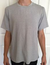 Lululemon Mens Size L Drysense Mesh Short Sleeve Gray SESA SS Shirt Metal Surge