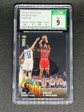 1995-96 Collectors Choice #353 Michael Jordan Playoff Time! CSG 9 HOF Bulls
