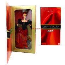 1998 Avon Exclusive Special Edition Winter Splendor Barbie Doll Worn Box