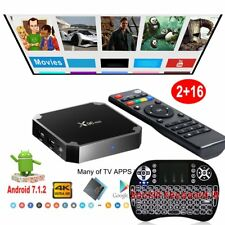4K 2+16GB NEW X96 MINI Android 7.1.2 Backlit Keyboard I8 Smart TV BOX Quad Core