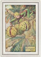 CICELY MARY BARKER c1930 HORSE CHESTNUT FAIRY Painting Vintage Art Book Print