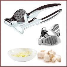 Heavy Duty Alloy Garlic Press Crusher Metal Rubber Grip Squeezer Presser Easy