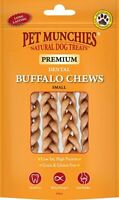 PET MUNCHIES Natural Dog Treats Dental Teething BUFFALO CHEW 4 Pack