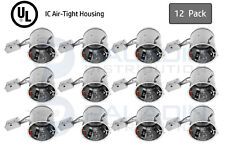 "Topaz 6"" Inch Remodel Recessed Can Light Housing - IC Air Tight E26 UL (12 Pack)"