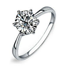 Charm Pretty 6Mm Simulated Diamond Wedding Rings Luxury Crystal Finger RingJ&C