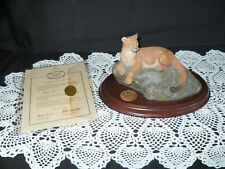 Hallmark 1991 Majestic Wilderness Mountain Lion With Pledge Of Authenticity