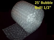 "25 Foot LARGE Bubble Wrap® Roll 12"" Wide! 1/2"" Bubbles! Perforated Every Foot"