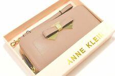 Anne Klein AKM2470 Lilac Bow Leather Ladies Zip Around Wallet